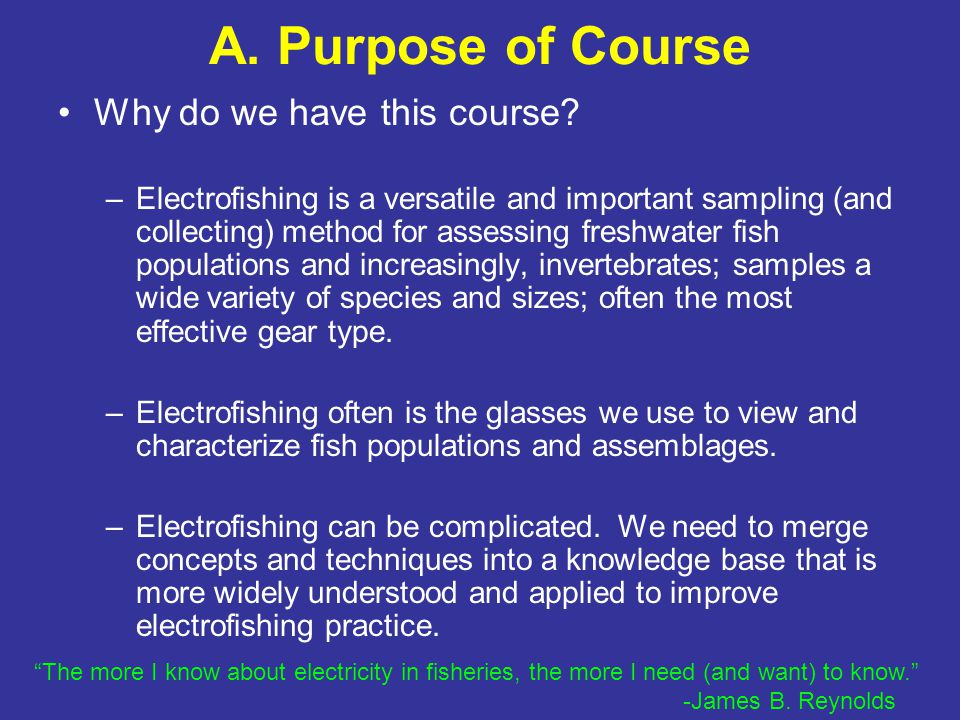 Principles & Techniques of Electrofishing - ppt download