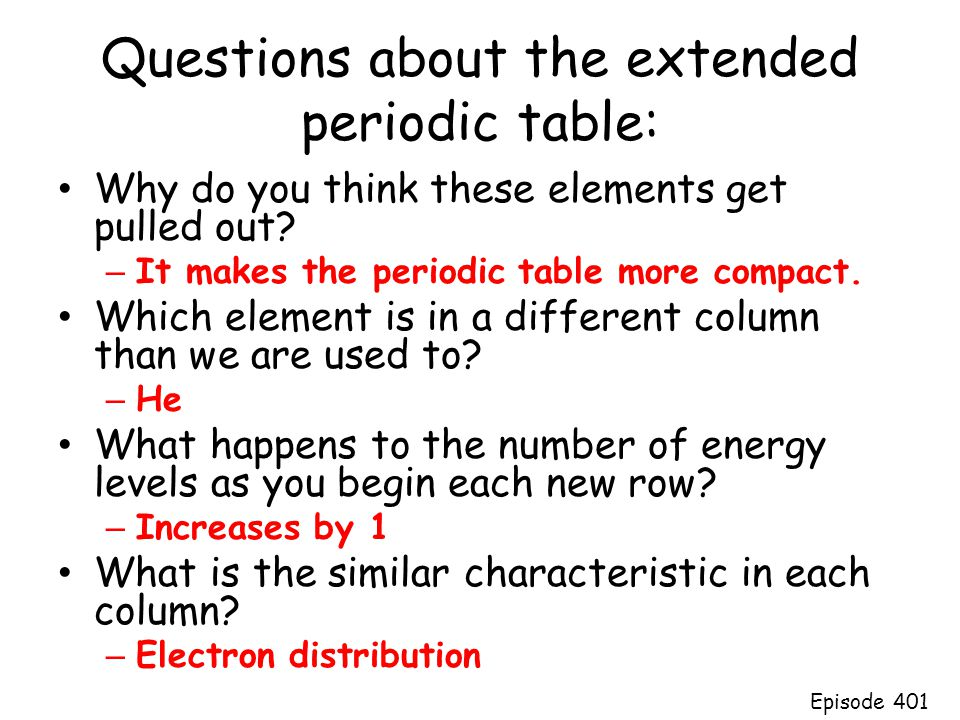 Dmitri mendeleev arranged elements by increasing atomic mass ppt questions about the extended periodic table urtaz Choice Image
