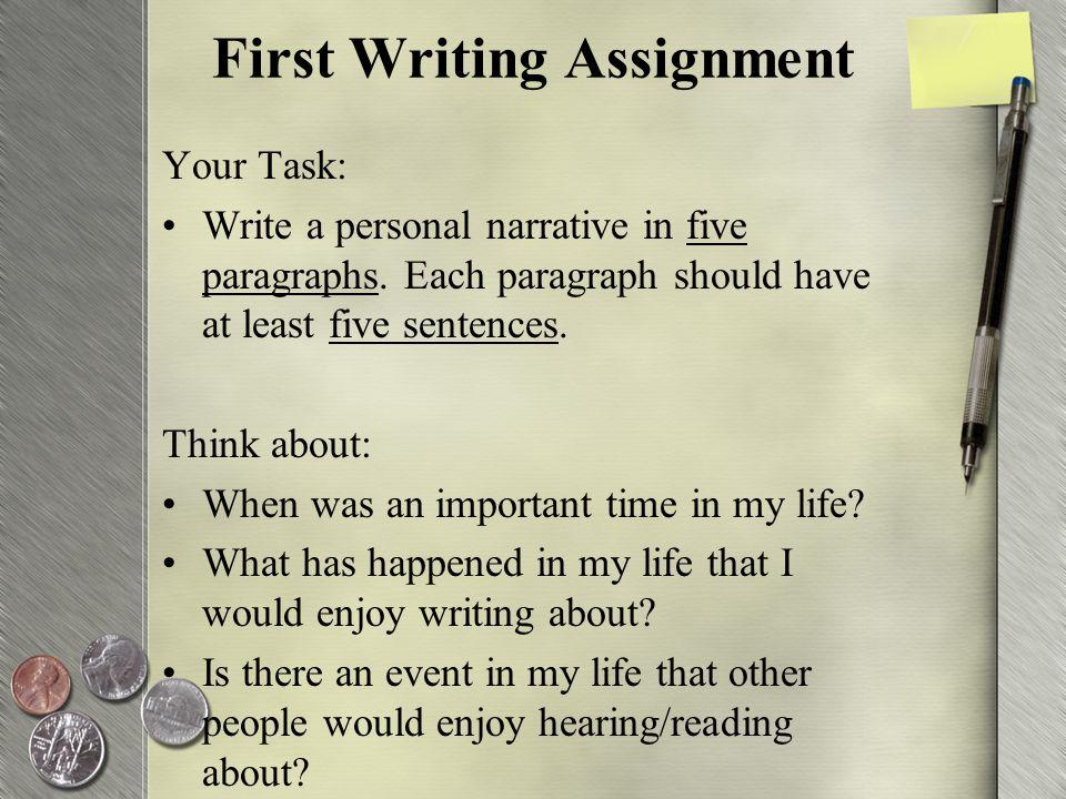 your talent essay narrative