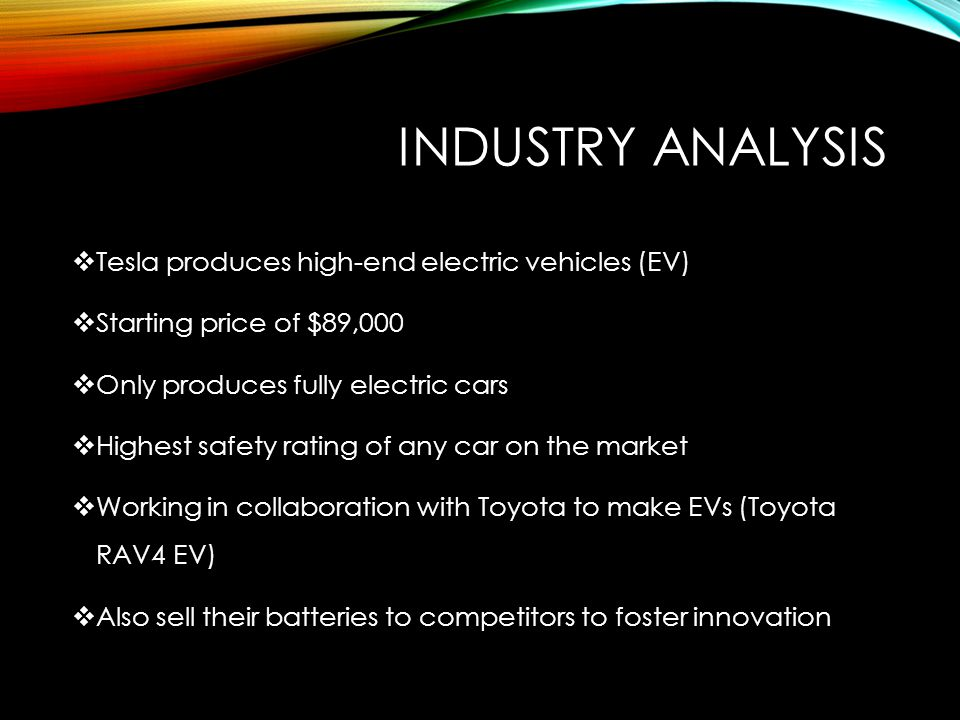 tesla motors competitive analysis