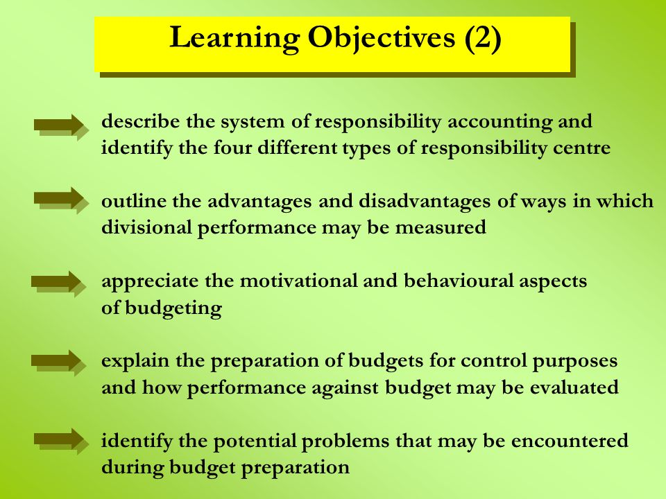 behavioral aspects of budgeting