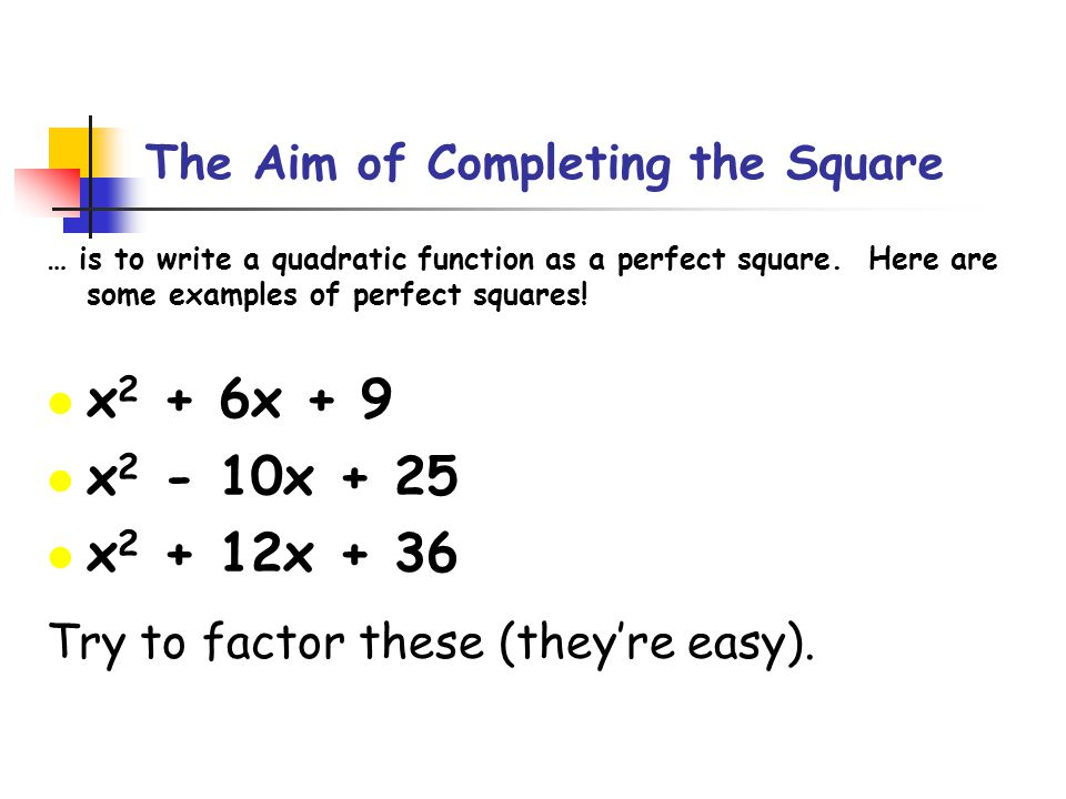 Completing The Square For Conic Sections Ppt Video Online Download