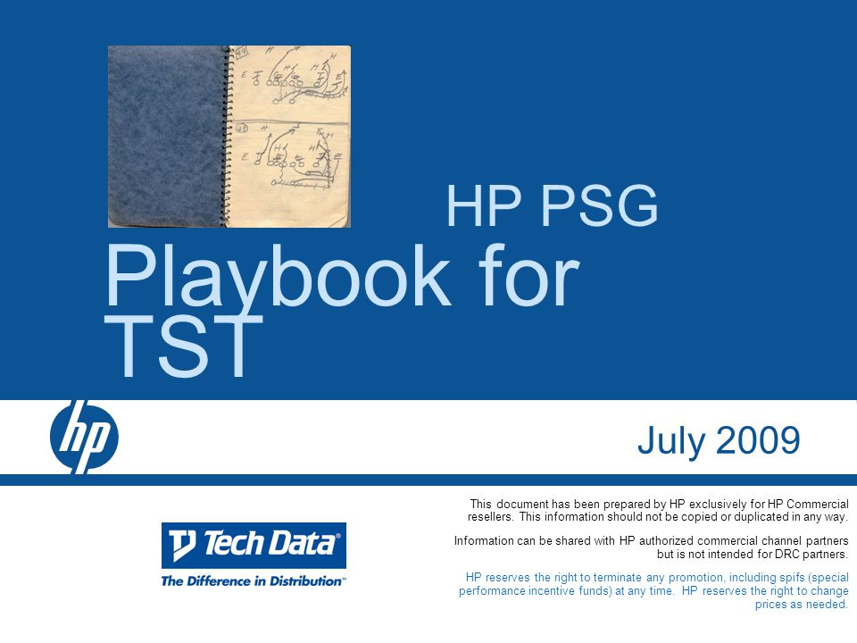Playbook for TST HP PSG July ppt download
