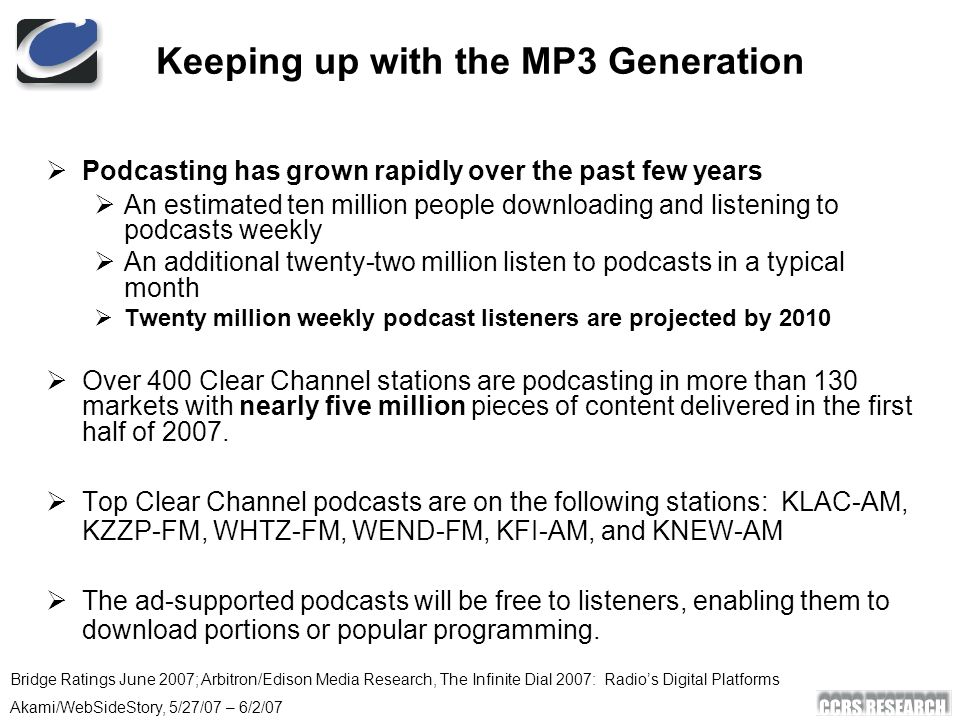 Radio In The New Media Landscape - ppt download