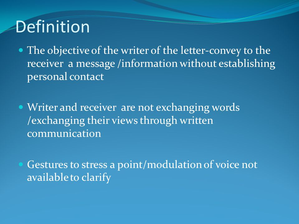 Personal Business Letter Definition from slideplayer.com