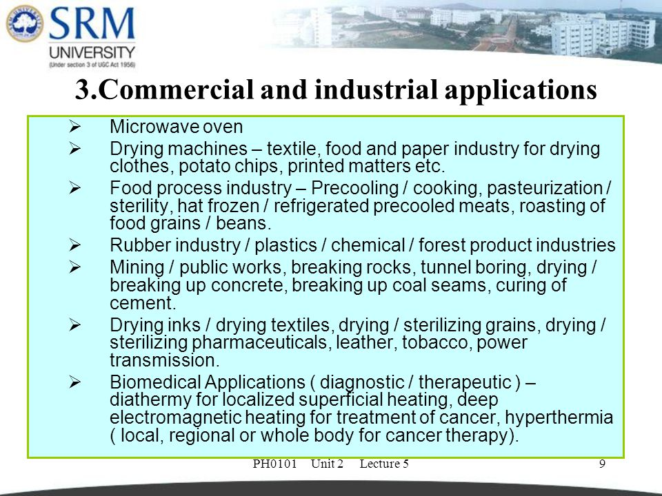 3.Commercial and industrial applications