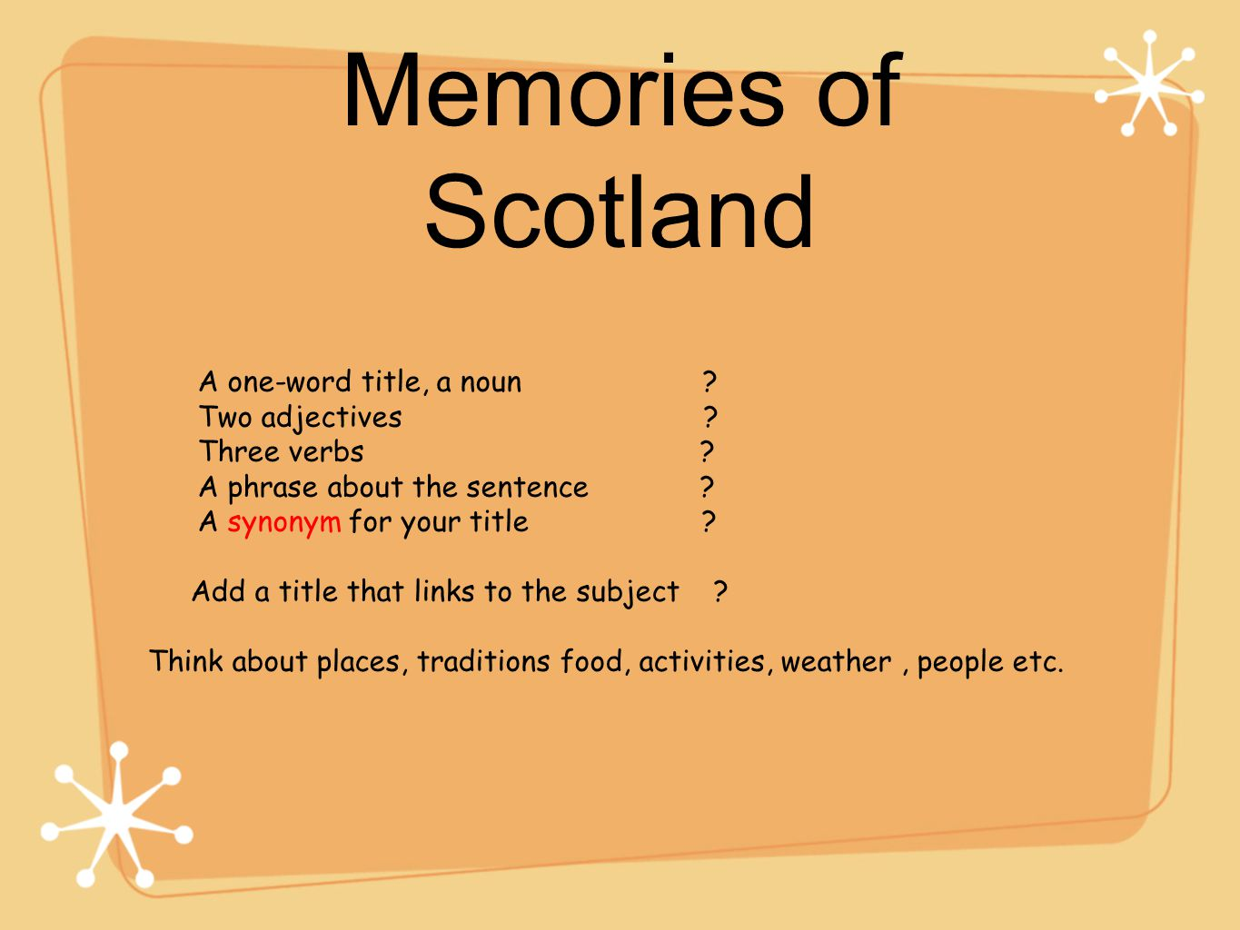 Memories: Synonyms for a word 19