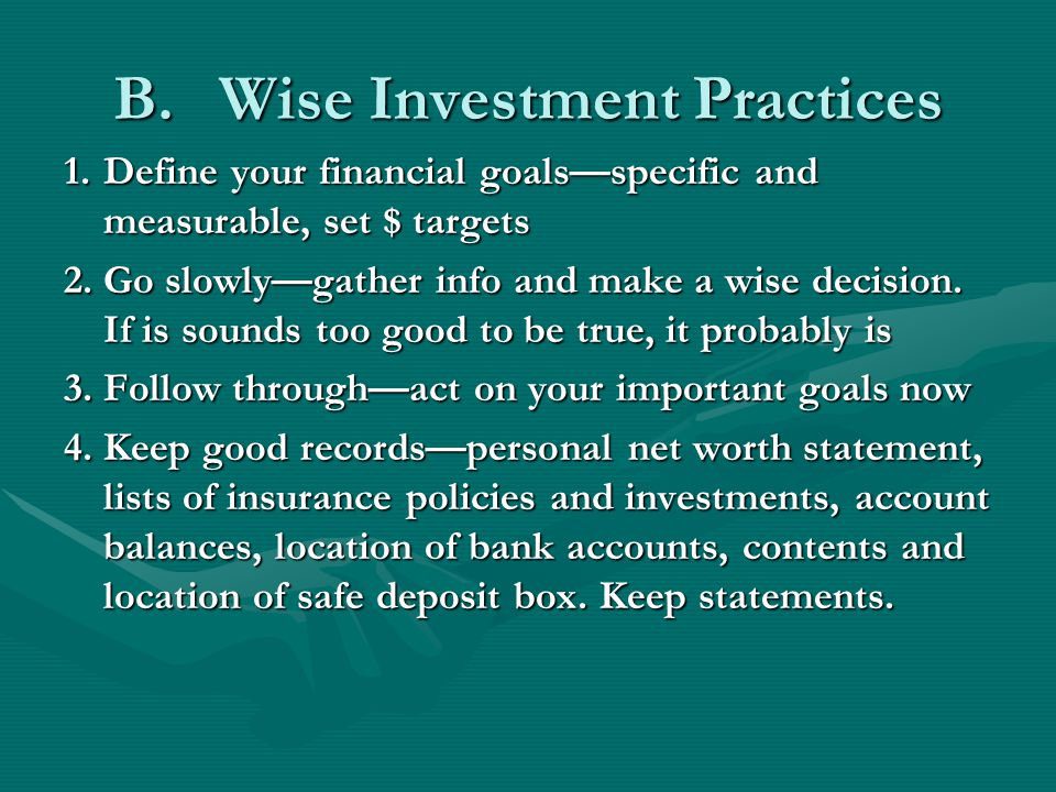 Wise investment practices alforex seeds artois ca map