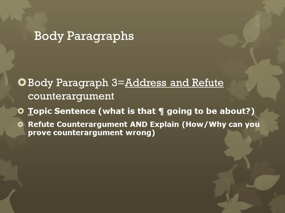 define counterargument