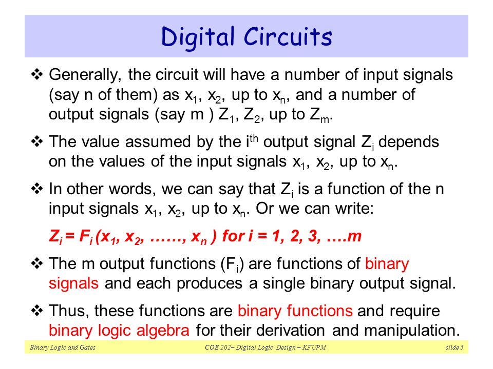Digital Circuits