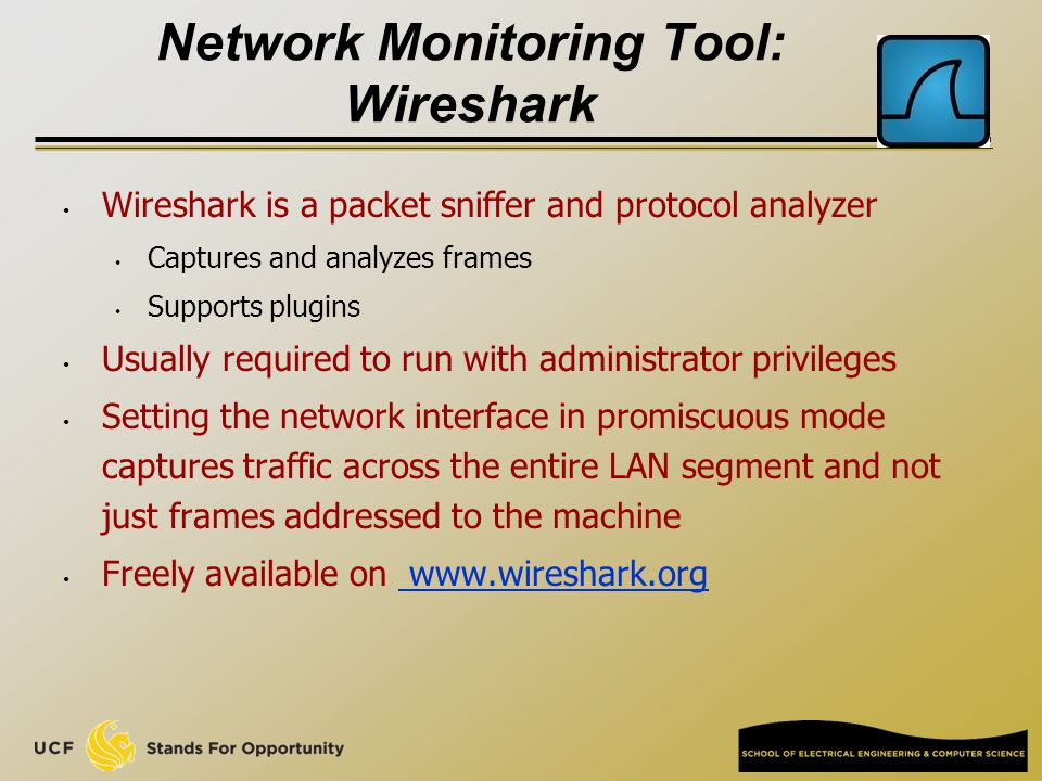 Network Monitoring Tool: Wireshark - ppt download