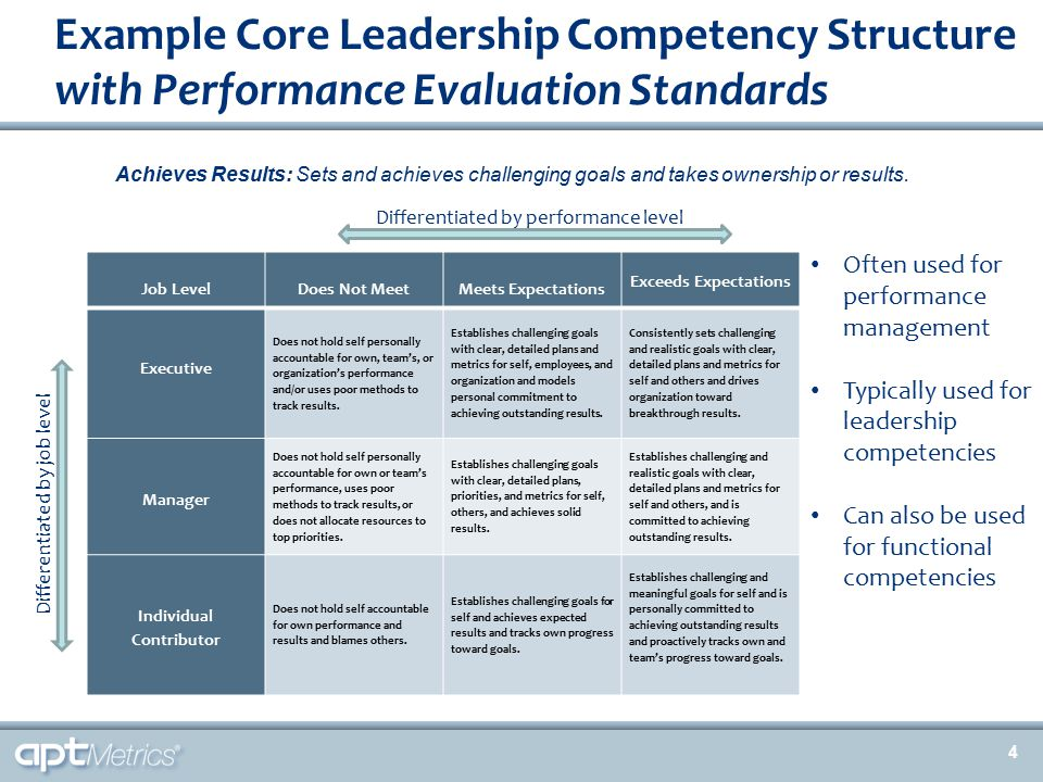 Example Functional Competency Structure with Proficiency Levels