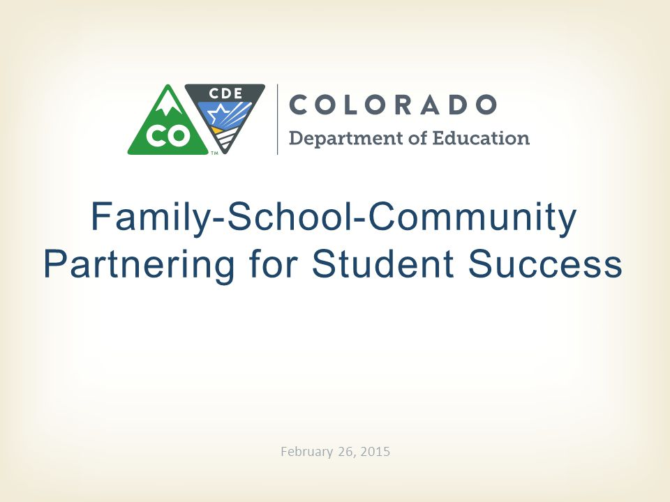 Family-School-Community Partnering for Student Success