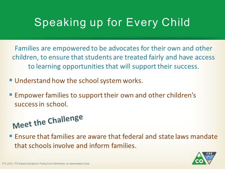 Speaking up for Every Child