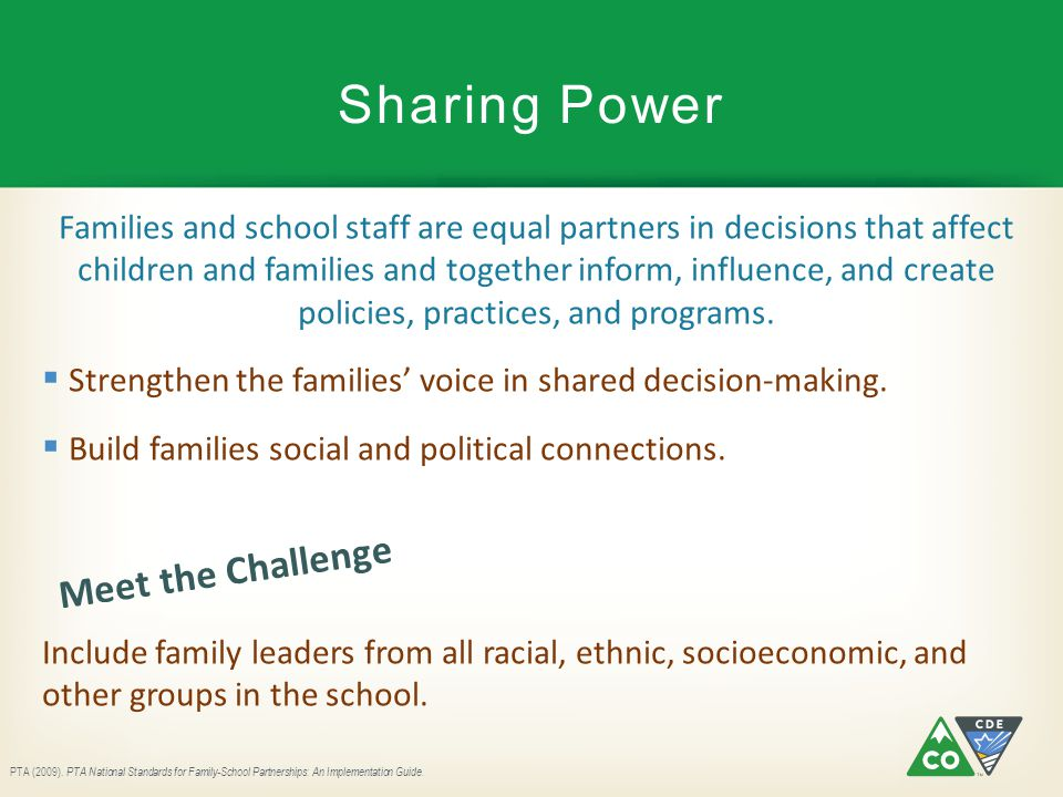 Sharing Power Meet the Challenge