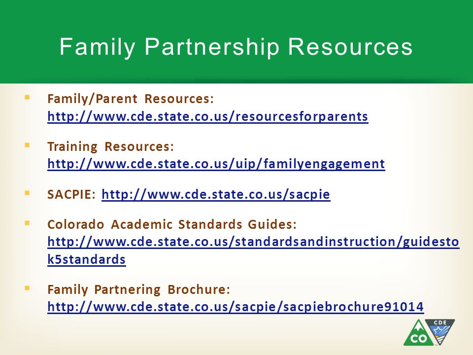 Family Partnership Resources