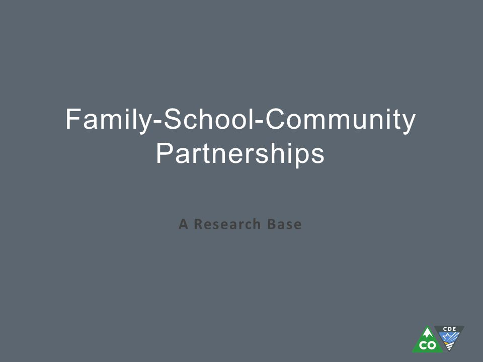 Family-School-Community Partnerships