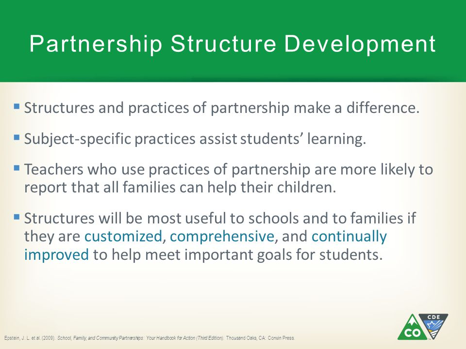 Partnership Structure Development