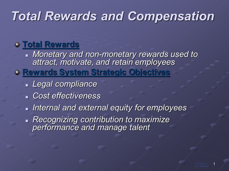 organizational objectives and total compensation essay More essay examples on recruitment rubric human resource in its basic sense is the people behind the organization's operations - analysis of hr contribution to organizational objectives introduction it can be also clerical or secretarial or even managerial function, which deals with the people and matters linked to employees such as salary issues, hiring, performance management, and training.