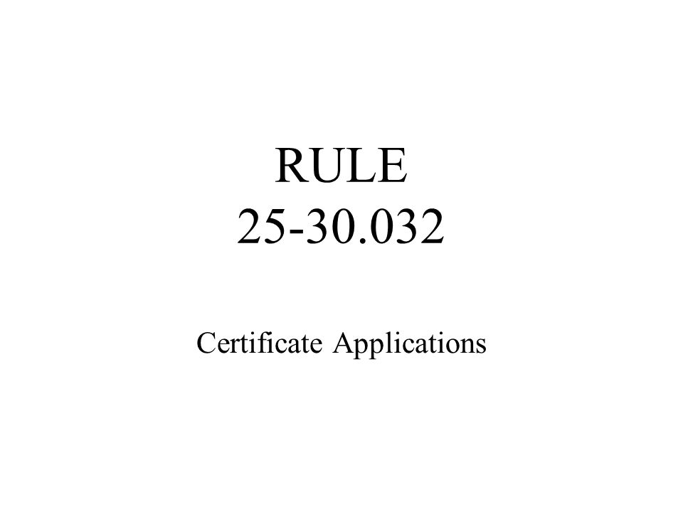 Rule 25-30.030 Continued The Notice of Application shall include the following information: The date the notice is given;