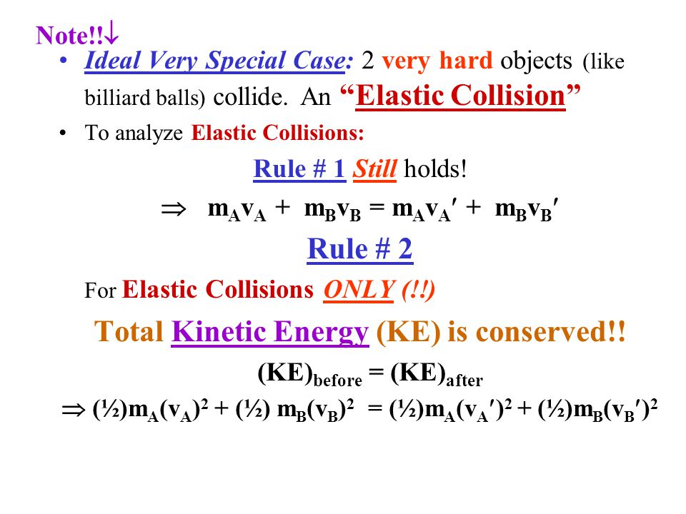 Section 7 4 Conservation Of Energy Momentum In Collisions Ppt Video Online Download