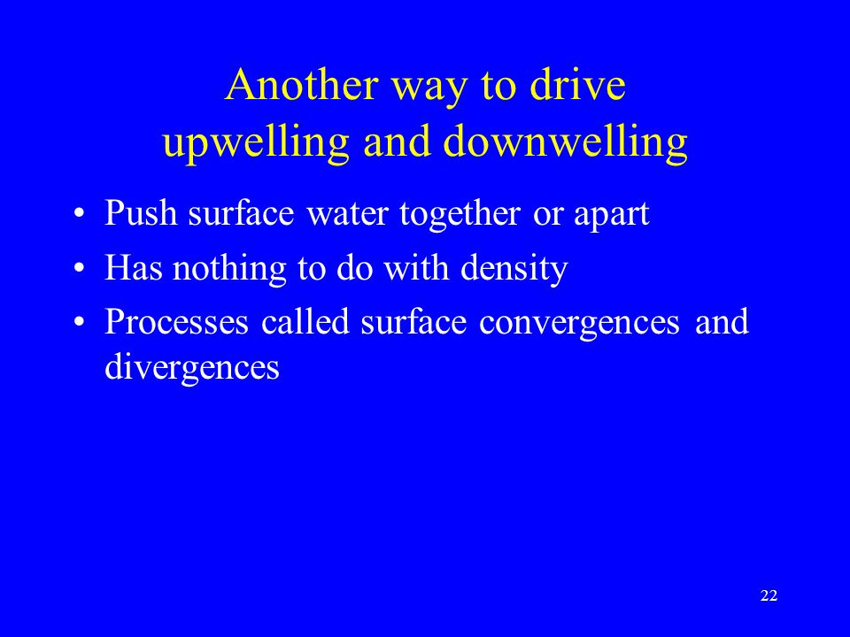Another way to drive upwelling and downwelling