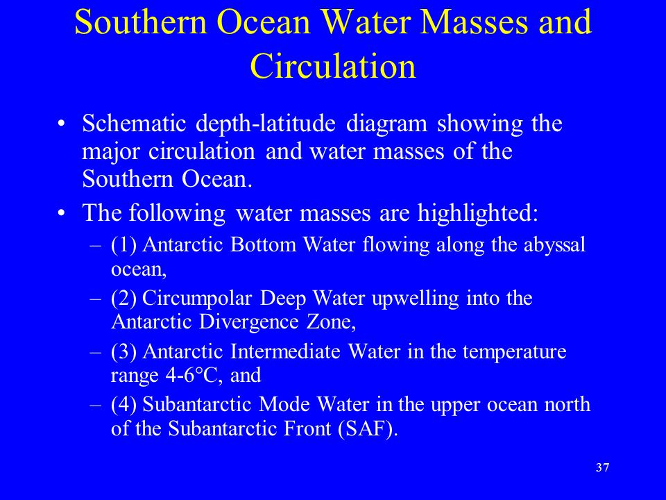 Southern Ocean Water Masses and Circulation
