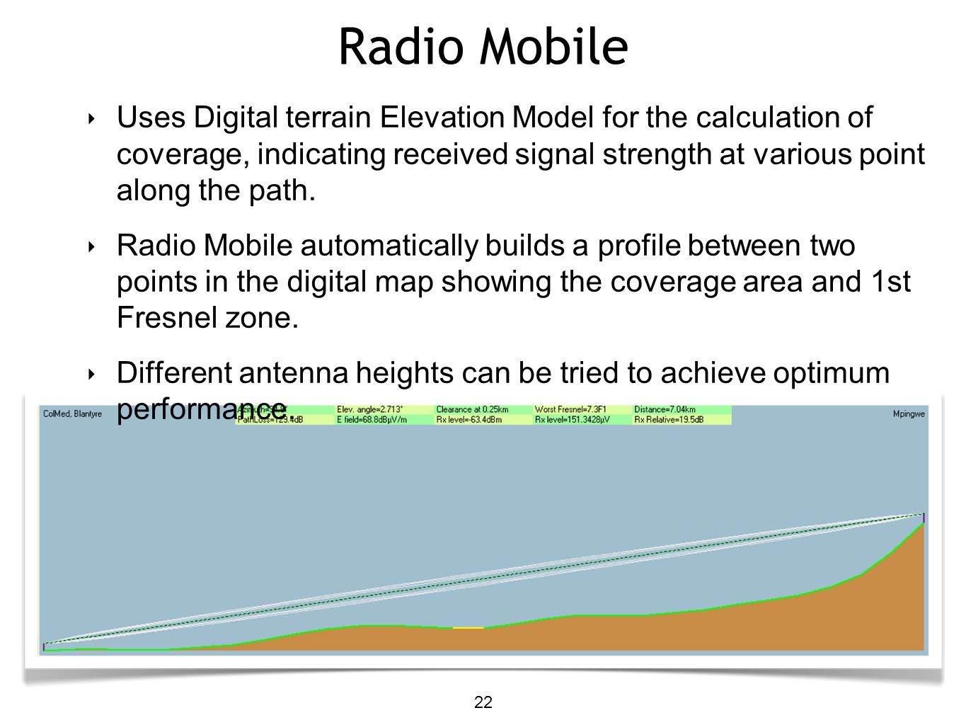 Link Budget Calculation Ppt Video Online Download And The Antenna Transmitter Two Points Are In One Line Radio Mobile