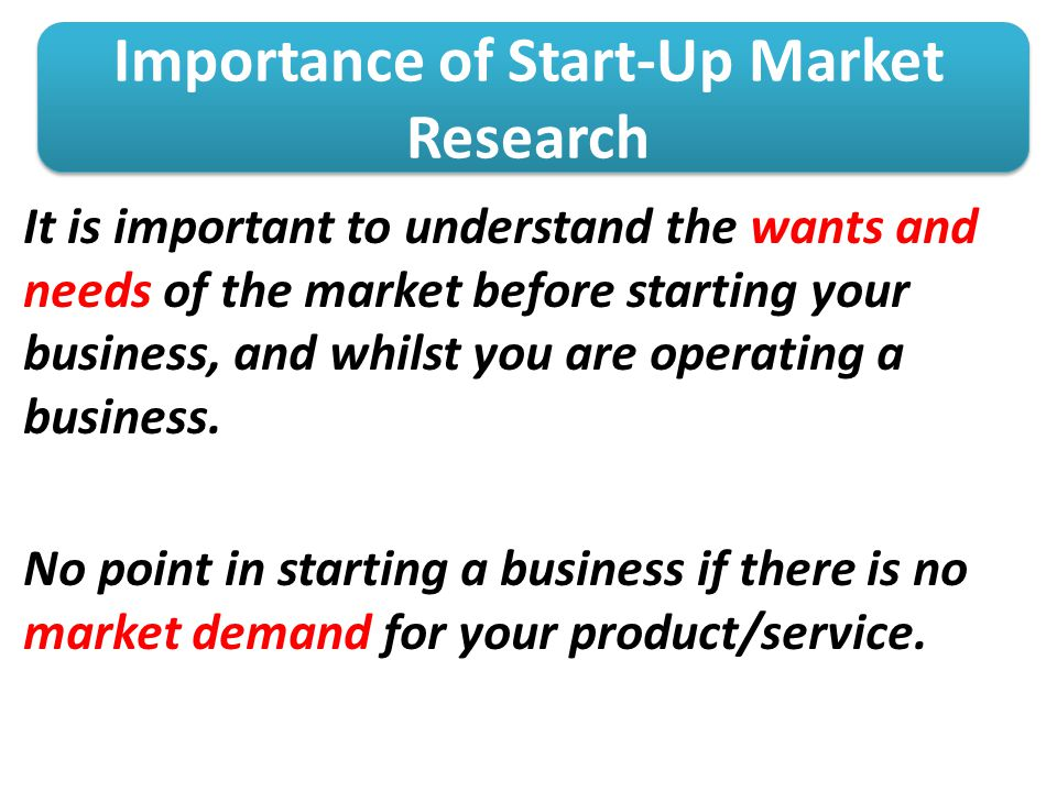Importance of Start-Up Market Research