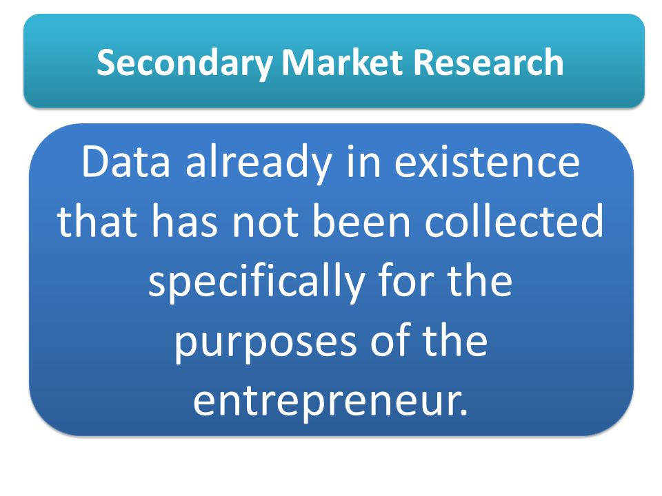 Secondary Market Research