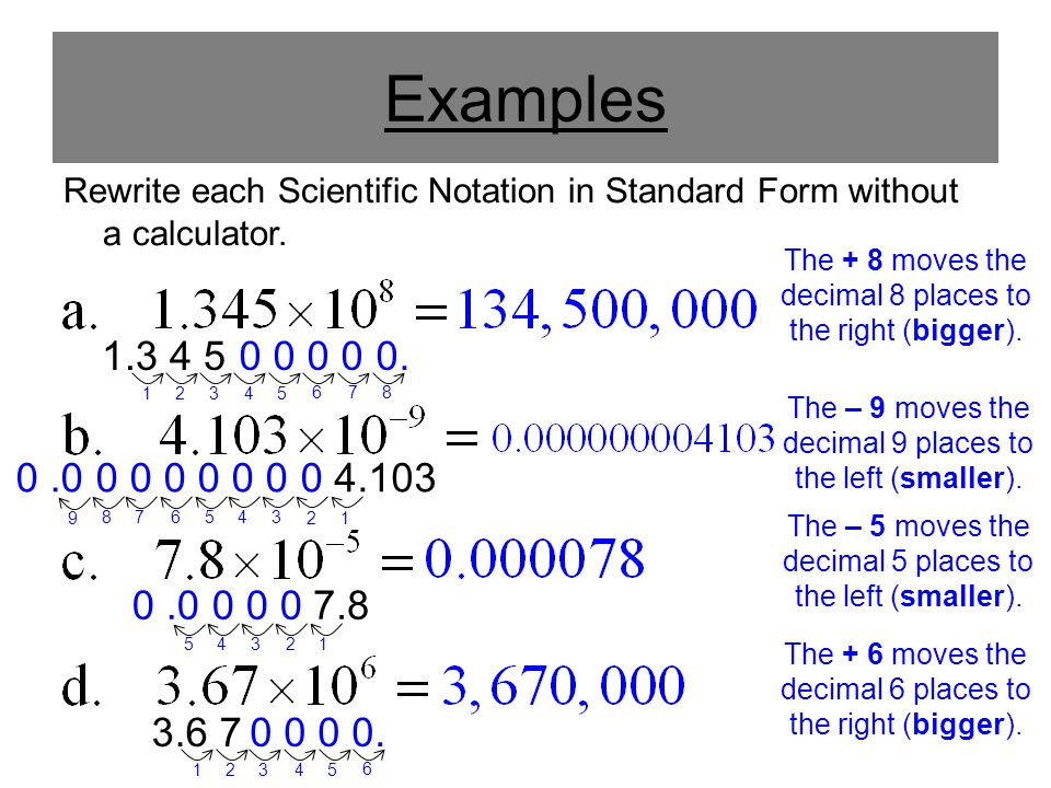 Scientific Notation In Standard Form Calculator Images Free Form