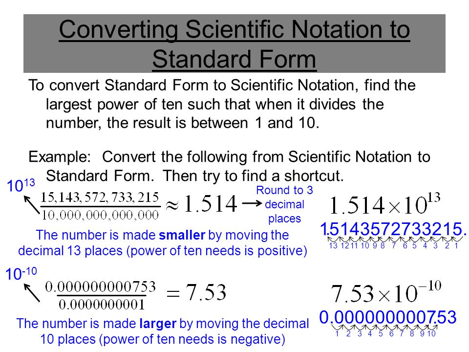 Scientific Notation To Standard Form Converter Choice Image Free
