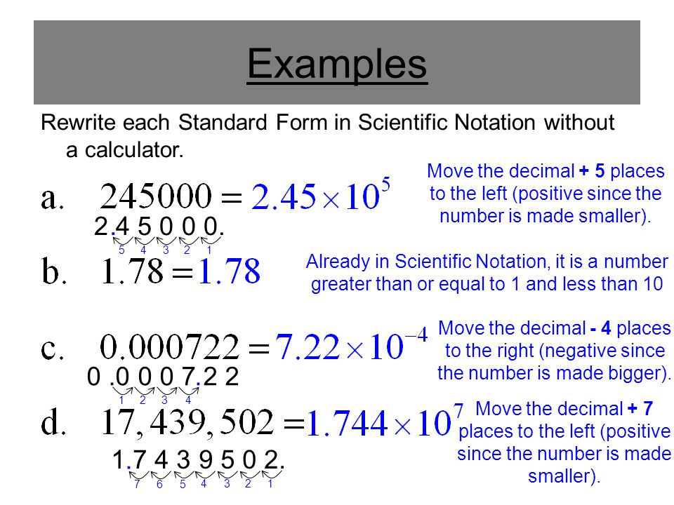 Convert Standard Form To Scientific Notation Calculator Images