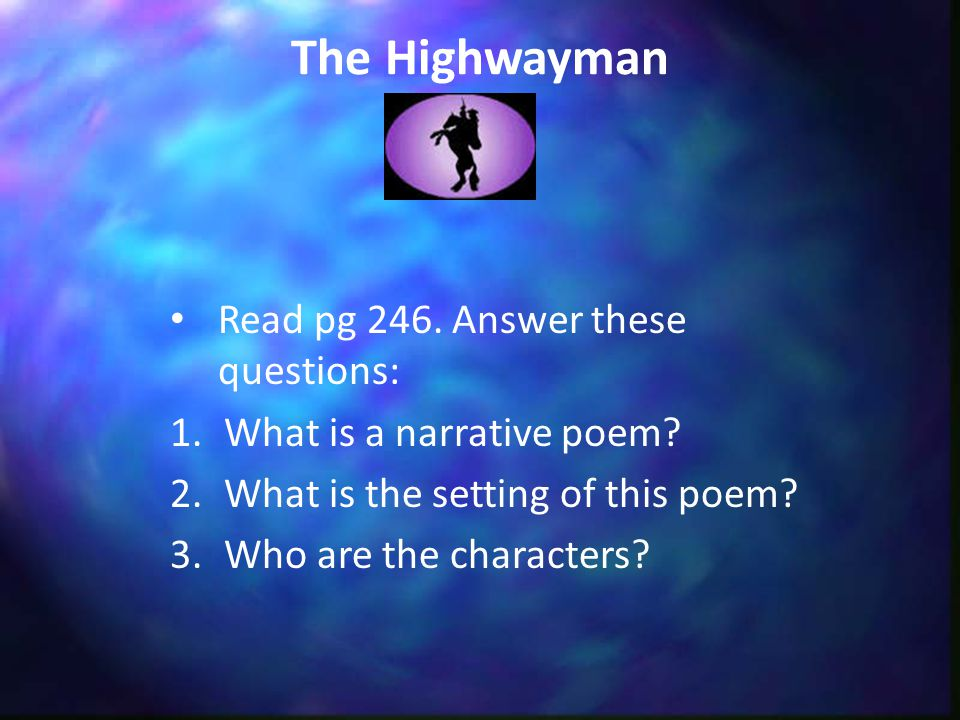 the highwayman characters