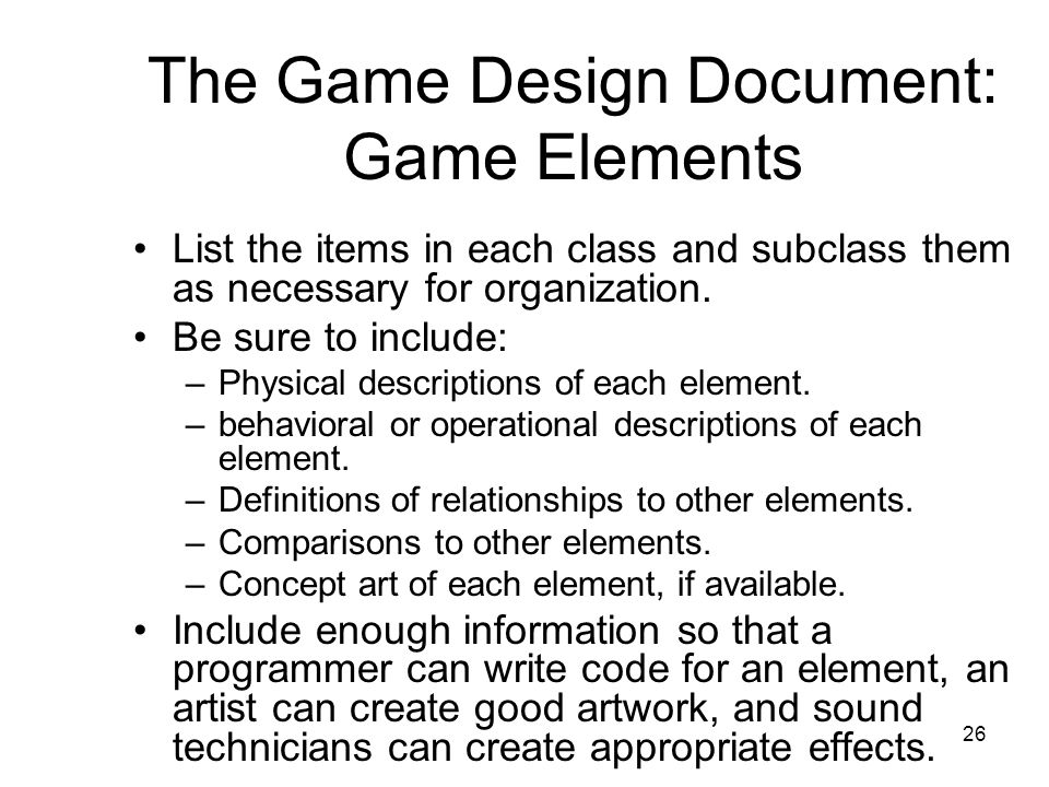 Special Topics In Game Programming Dr Tim McGuire Summer Ppt Video - How to write a game design document
