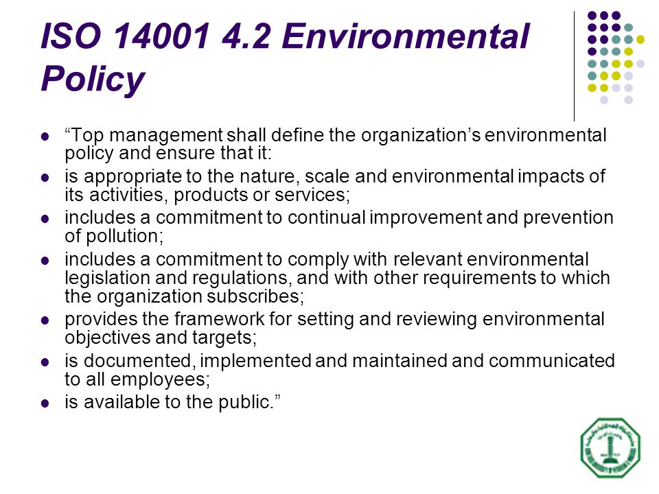Guide For Implementing Iso Environmental Management System