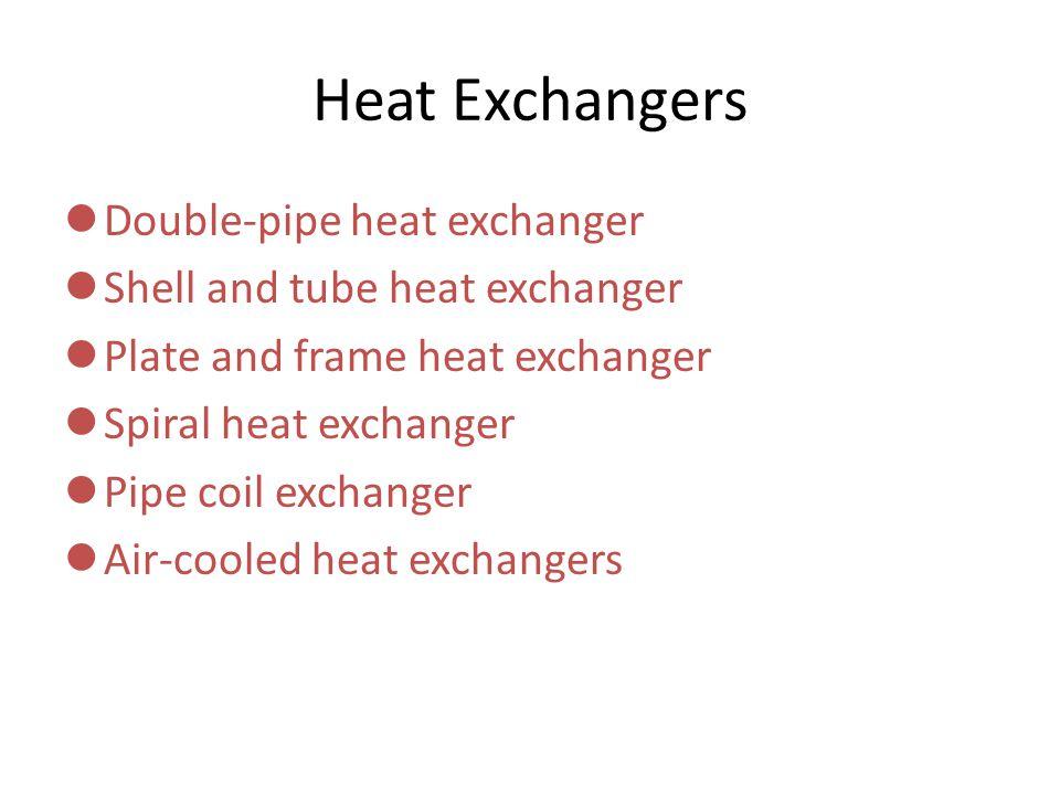 6 Heat Exchangers Double-pipe heat exchanger  sc 1 st  SlidePlayer & Types Heat Exchanger Types Heat exchangers are ubiquitous to energy ...