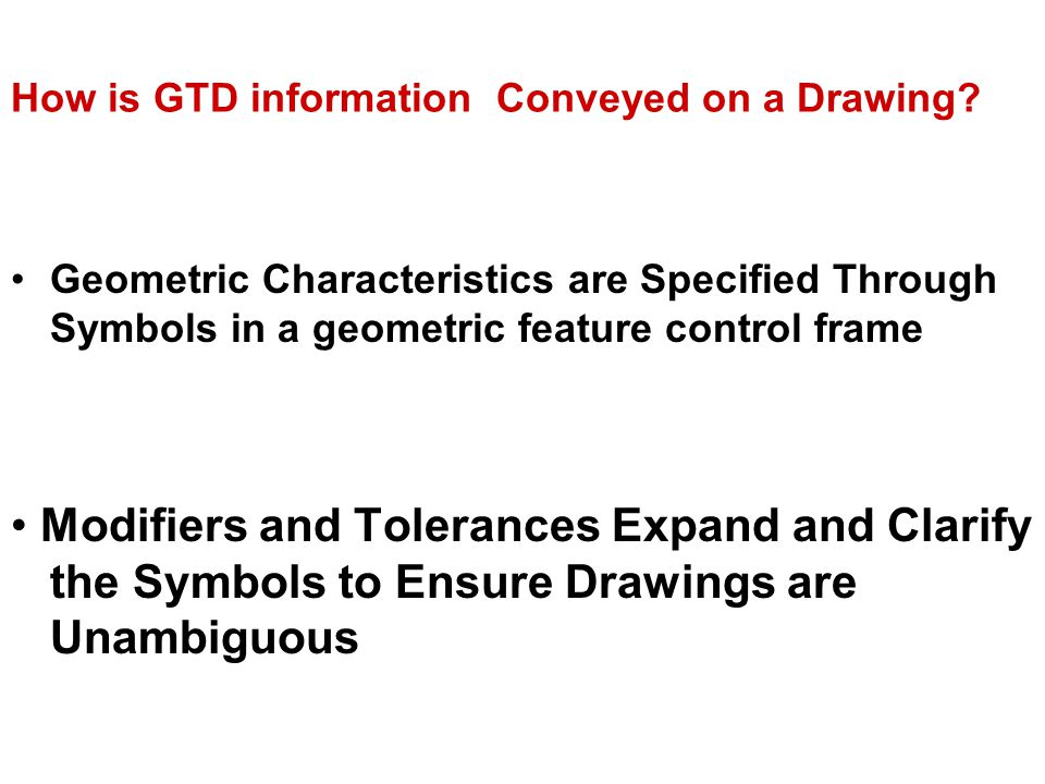 Geometric Dimensions And Tolerances Ppt Video Online Download