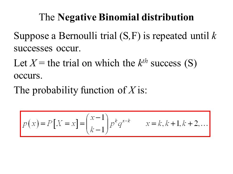 Probability Theory Summary Ppt Download. The Negative Binomial Distribution. Worksheet. Negative Binomial Distribution Worksheet At Clickcart.co