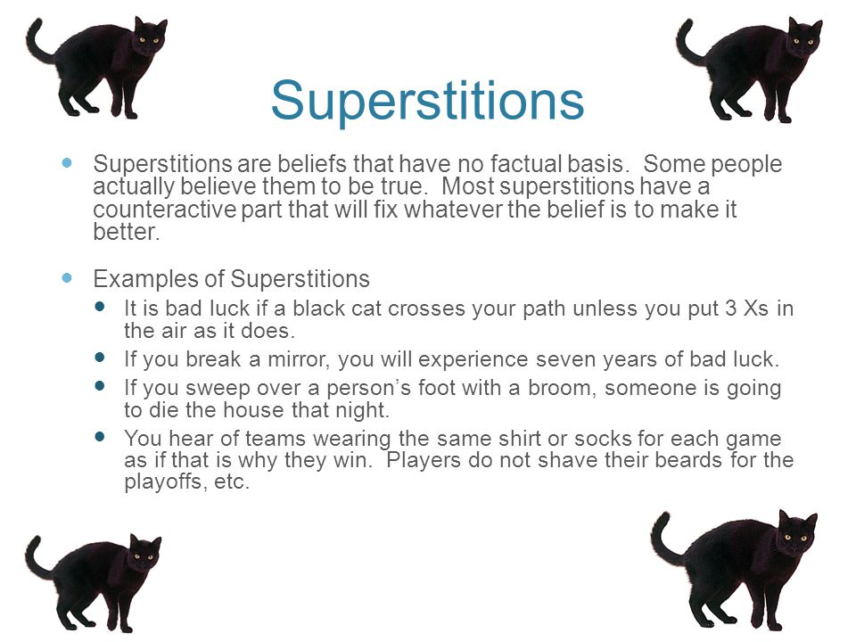 Anomalistic psychology superstitions.