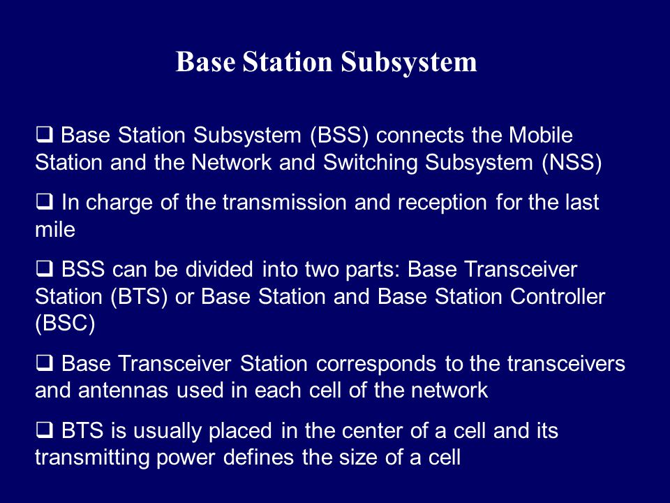 Base Station Subsystem