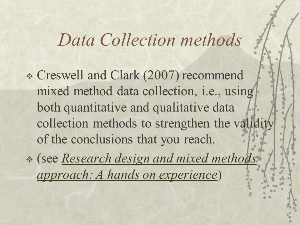 Data Collection methods