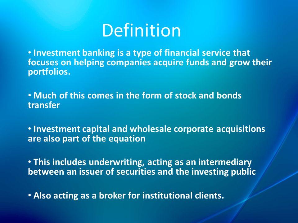 INVESTMENT BANKING DEFINITION PDF DOWNLOAD - PDF LAND