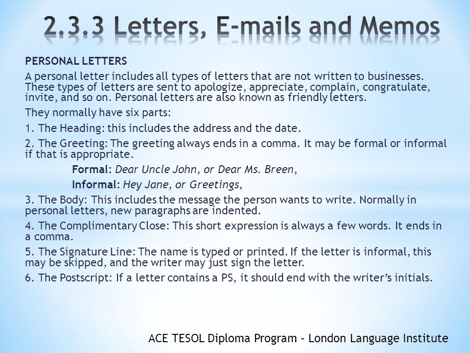 objectives you will understand the format of letters s and memos
