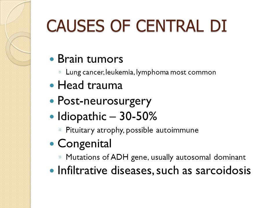 diabetes insipidus head injury diabetes insipidus cancer
