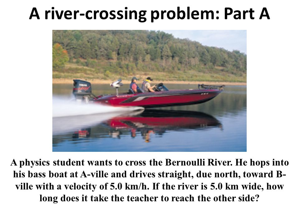 A river-crossing problem: Part A