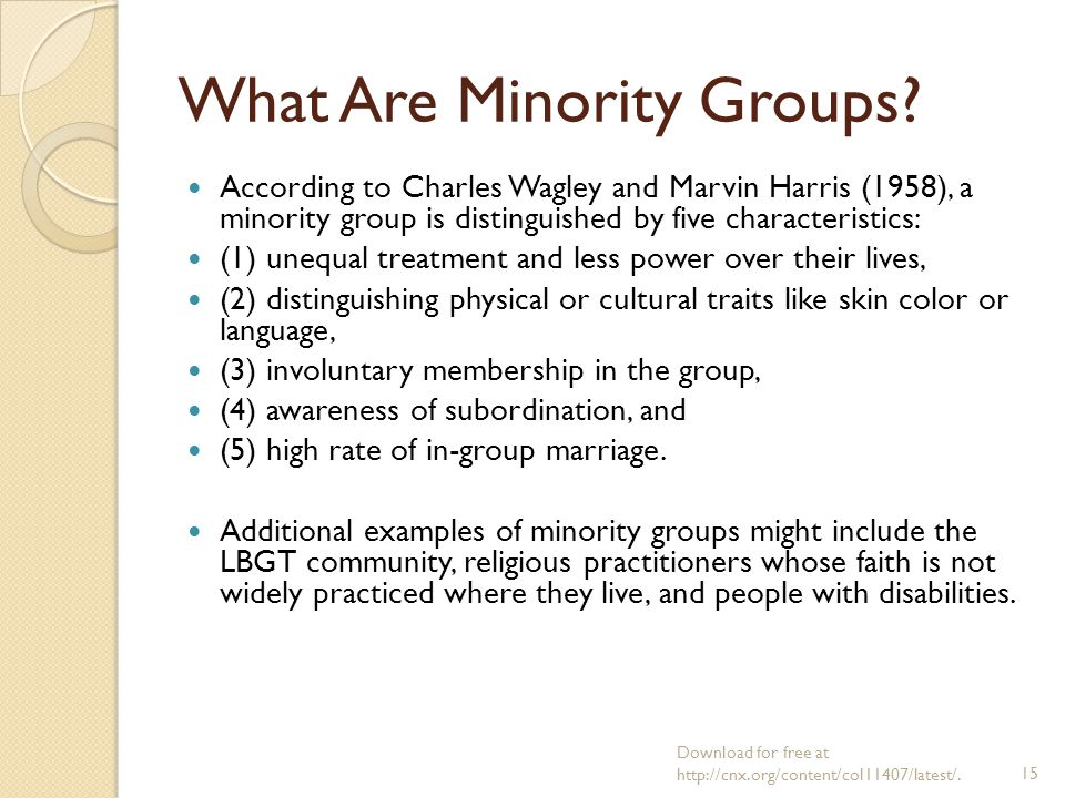 examples of involuntary groups