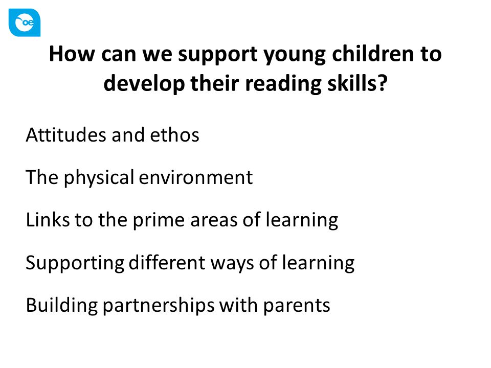 How can we support young children to develop their reading skills