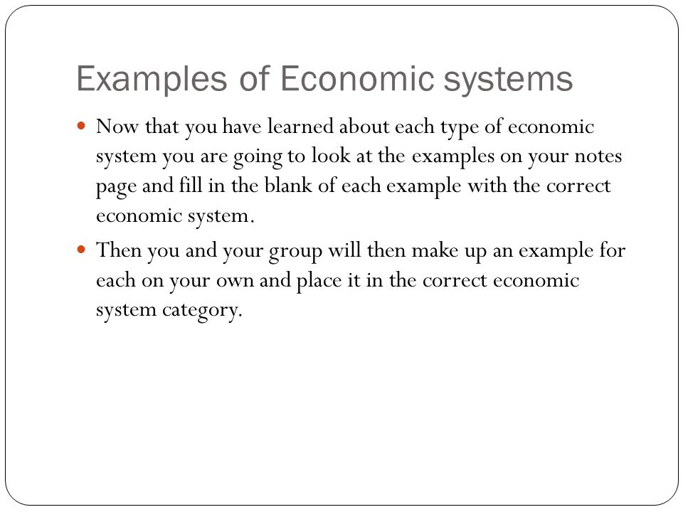 modern economic systems - ppt download