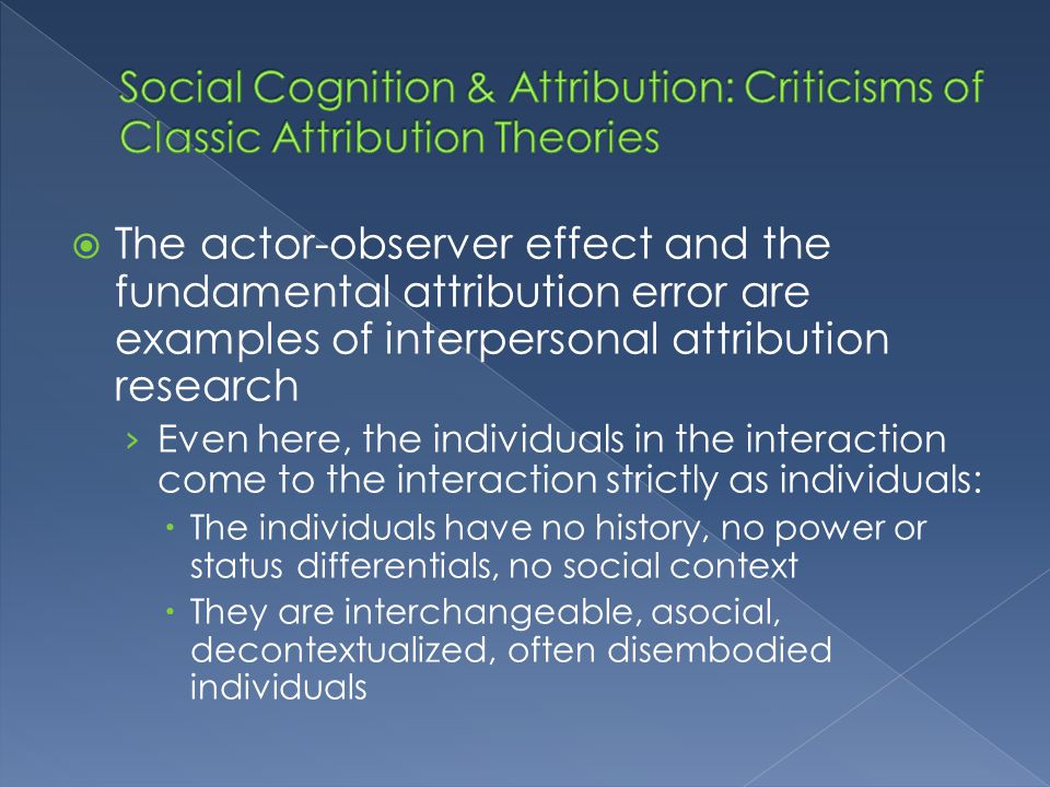 Attributions Chapter Ppt Download